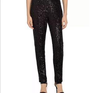 Victoria Beckham Sequin Tuxedo Black Pants 26